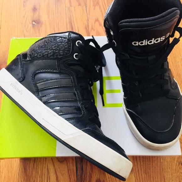 Adidas zapatos bbneo Raleigh Hitop leopardo negro SZ 6 poshmark